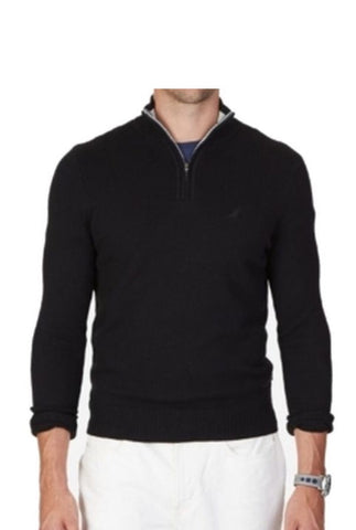 Mens Nautica 1/4 Zip Sweater Black