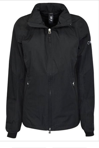Ladies Nivo Kim Waterproof Jacket Black - Golf Stitch