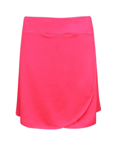 Ladies IXSPA Ruffle Skort Hot Pink