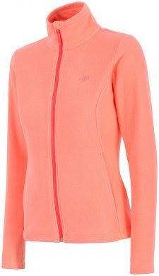 Ladies Glacier Micro Fleece 1/2 Zip Jacket Orange - Golf Stitch