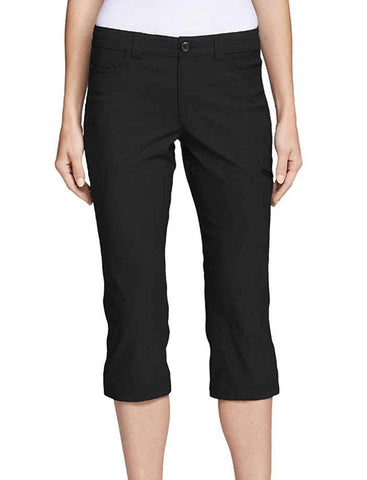 Ladies Eddie Bauer Rainier Tech Capri Black