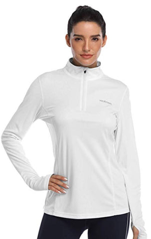 Ladies Hiskywin Longsleeve Sun Top White