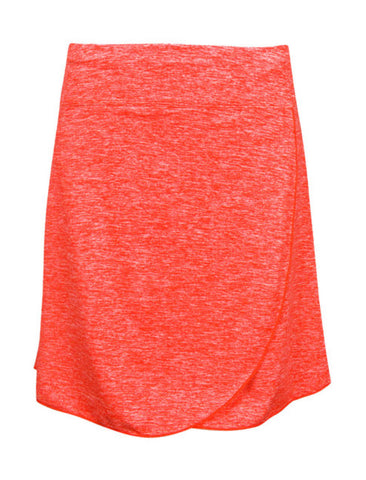 Ladies IXSPA Ruffle Skort Heathered Coral