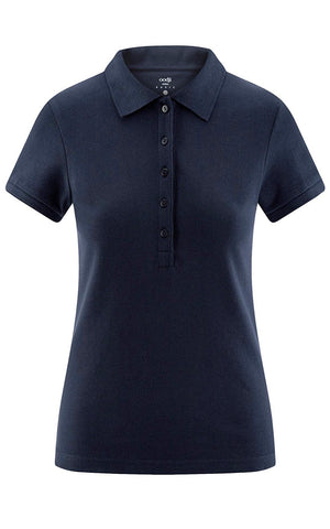 Ladies Oodji Cotton Polo Navy