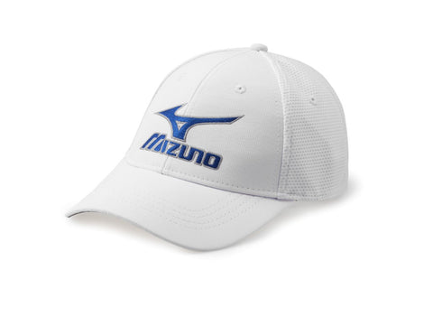 Mens Mizuno Tour Mesh Fitted Cap White