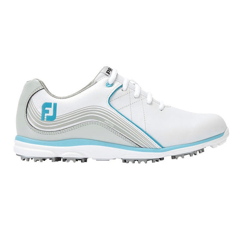 Ladies Footjoy Pro SL Golf Shoes White/Blue