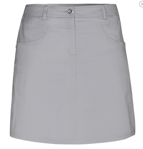 Ladies Nivo Lightweight Tech Skort Light Grey