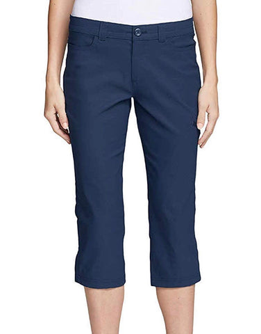 Ladies Eddie Bauer Rainier Tech Capri Navy