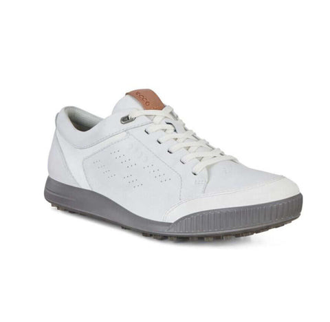 Mens Ecco Street Retro Golf Shoes Bright White