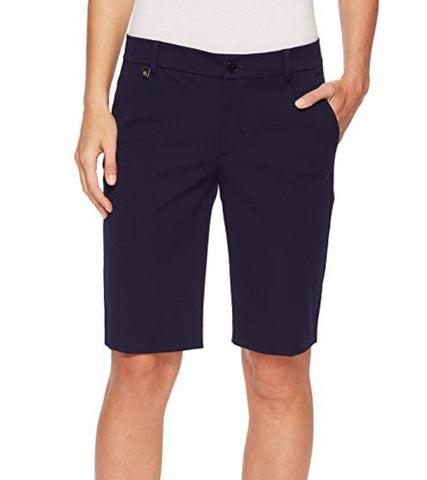 Ladies Ralph Lauren Solid Shorts Navy