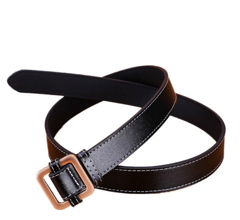 Ladies Chloe Lee Leather Belt Black