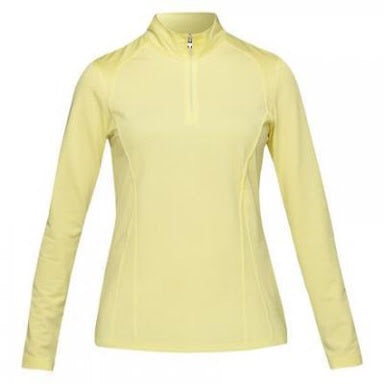 Ladies NIVO Essential Long Sleeve Sun Protection Mock LImelight - Golf Stitch