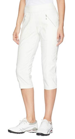 Ladies Jamie Saddock Skinnylicious Pedal Pusher White