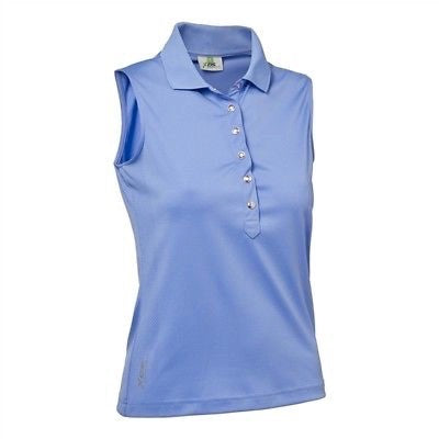 Ladies Daily Sports Sleeveless Mindy Polo Blue Bell