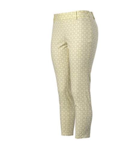 Ladies Oxford Bonita Pants Yellow - Golf Stitch