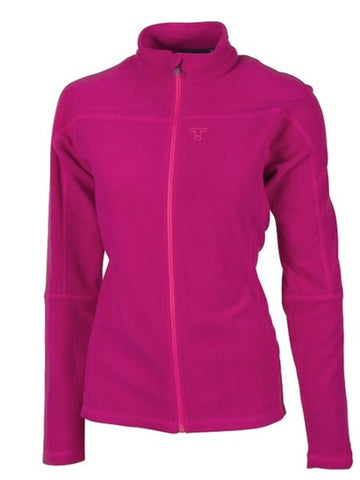 Ladies Tenson Marilyn Full Zip Fleece Purple - Golf Stitch