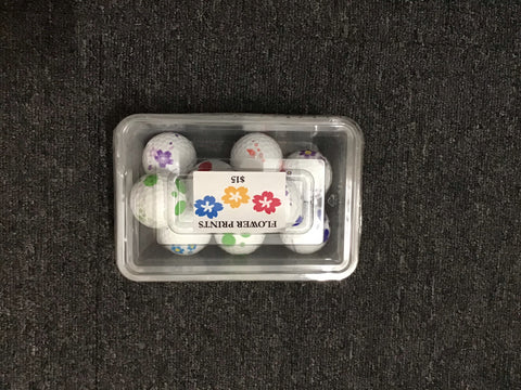 Vision Flower Print Golf Balls 9 Pack