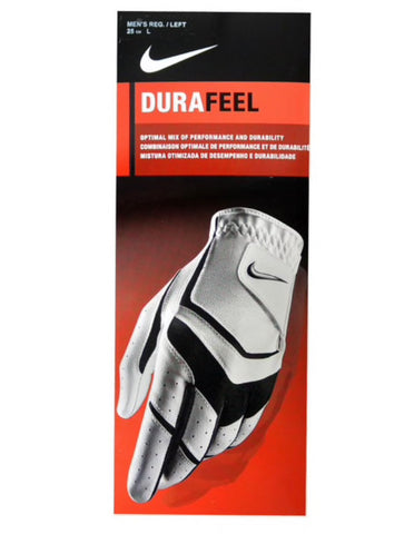 Mens NIKE Dura Feel All Weather Glove White