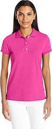 Ladies Nautica Cotton Pique Polo Fucshia