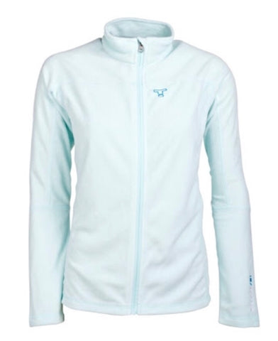 Ladies Tenson Marilyn Full Zip Fleece Turquoise - Golf Stitch