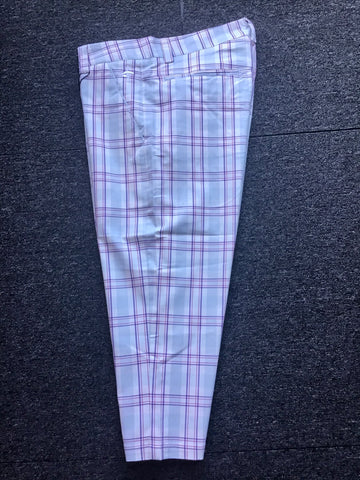 Ladies Cross Classic Tartan Chino Capris Dawn Blue