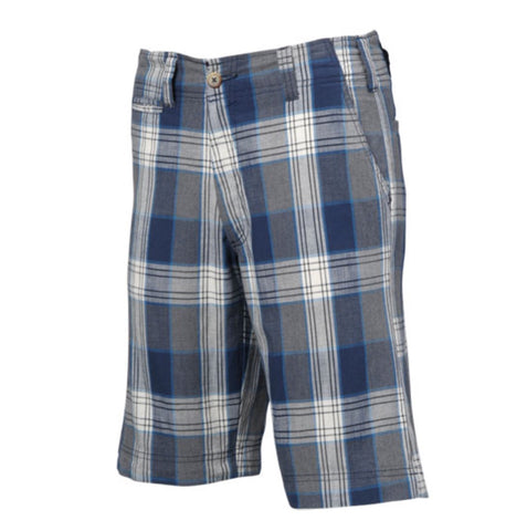 Mens Nautical Plaid Shorts Navy - Golf Stitch
