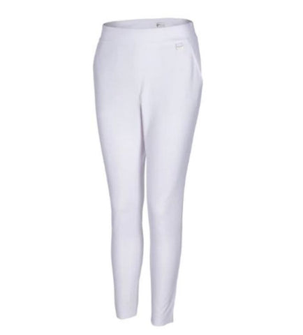 Ladies Greg Norman 4 Way Stretch Pull On Long Pant White