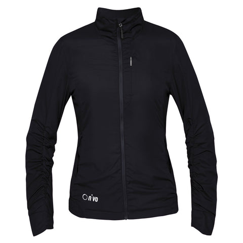 Ladies Nivo Kloe Jacket Black - Golf Stitch