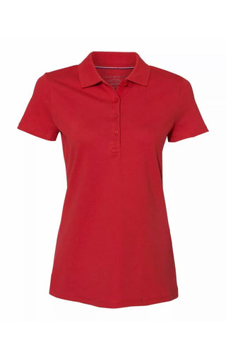 Ladies Tommy Hilfiger Cotton Pique Polo Red