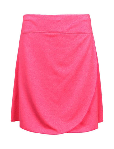 Ladies IXSPA Ruffle Skort Heathered Pink