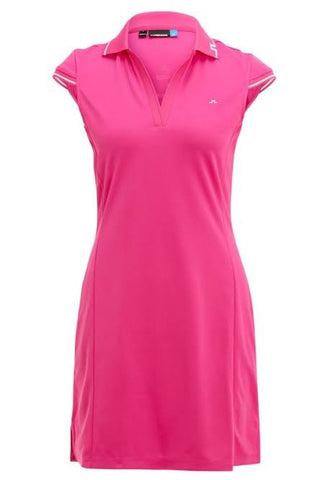 Ladies J.Lindeberg Marlene Fieldsensor 2.0 Dress Pink Intense