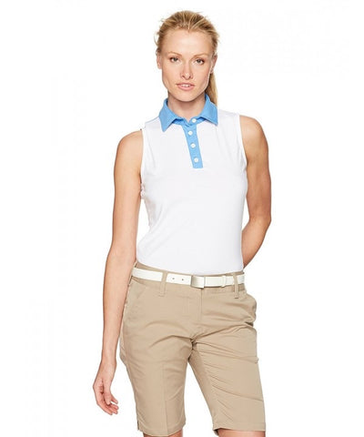 Ladies Redvanly Sleeveless Polo White