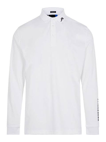 Mens J.Lindeberg Tour Tech Jersey Longsleeve Polo White