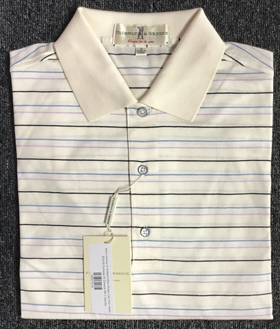 Mens Fairway & Greene Indian Ridge Lisle Polo Vanilla