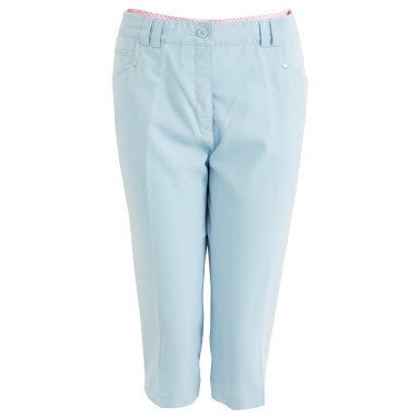 Ladies Green Lamb Solid Capri - Golf Stitch