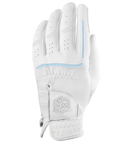 Ladies Wilson Grip Plus All Weather Glove White - Golf Stitch