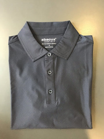 Mens Abacus Textured Polo Black