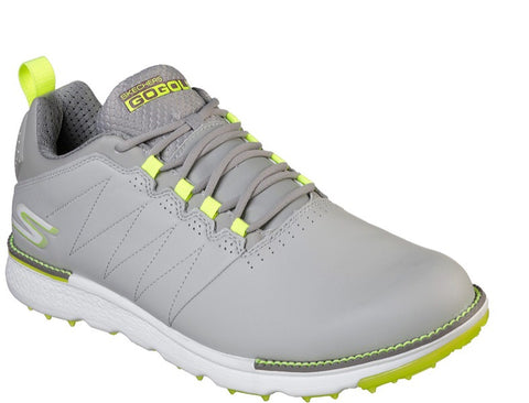 Mens Skechers Elite 3 Golf Shoes Grey/Lime