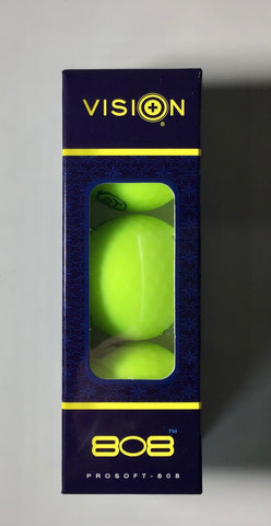 Vision Pro Soft 808 Yellow Matte 3 Ball Sleeve