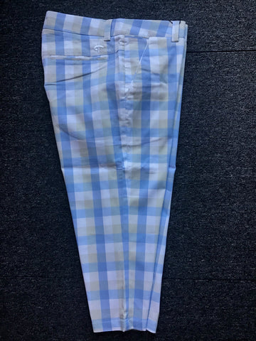Ladies Cross Classic Checked Chino Capri White