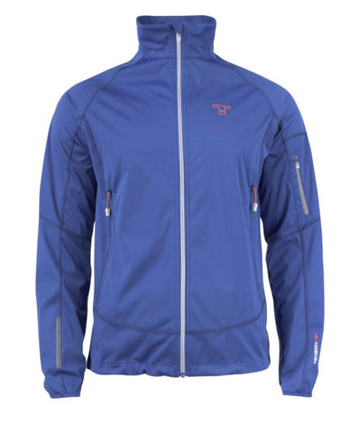 Mens Tenson Mars Waterproof Jacket Blue - Golf Stitch