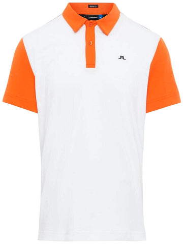 Mens J.Lindeberg Bob Cotton Poly Polo White