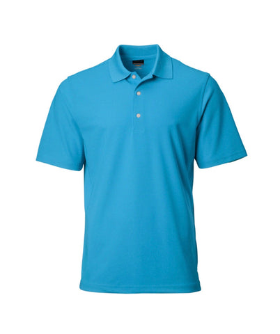 Mens Greg Norman PlayDry ProTek Micro Pique Polo Aqua