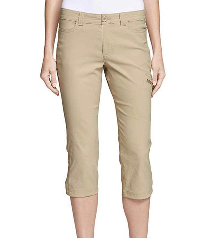 Ladies Eddie Bauer Rainier Tech Capri Khaki