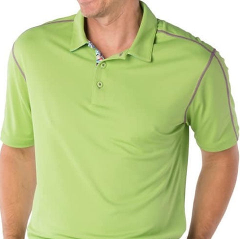 Mens IBKUL Solid Polo Green