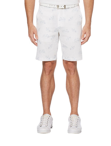 Mens PGA Tour Seersucker Print Shorts White