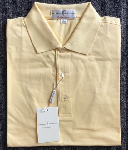 Mens Fairway & Greene Signiture Solid Pique Polo Grapefruit