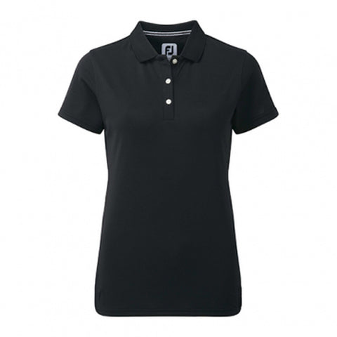 Ladies Footjoy Stretch Pique Polo Black