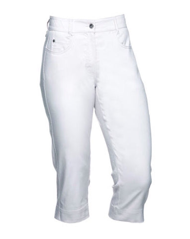 Ladies Cross Amy Capris White