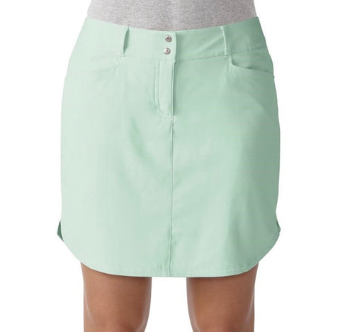 Ladies Adidas 3 Stripe Skort Mint Green